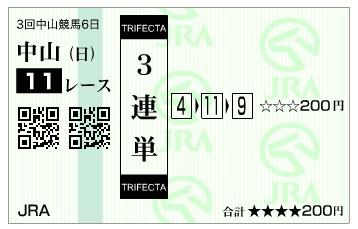 馬券【300408】中山11R_3