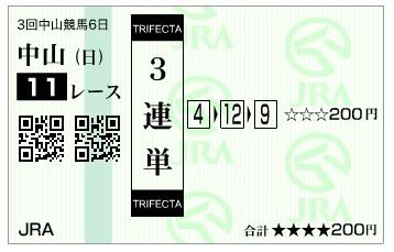 馬券【300408】中山11R_4