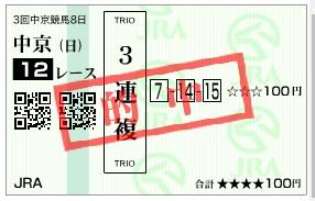 【的中馬券】0722中京12R_2(長生式馬券スタイル)
