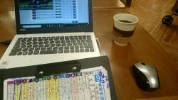 札幌三越のカフェにて