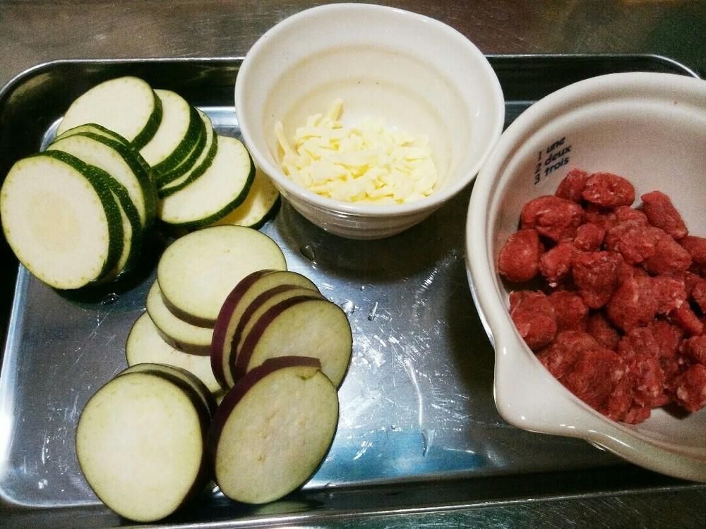 夏野菜のチーズ焼の作り方1