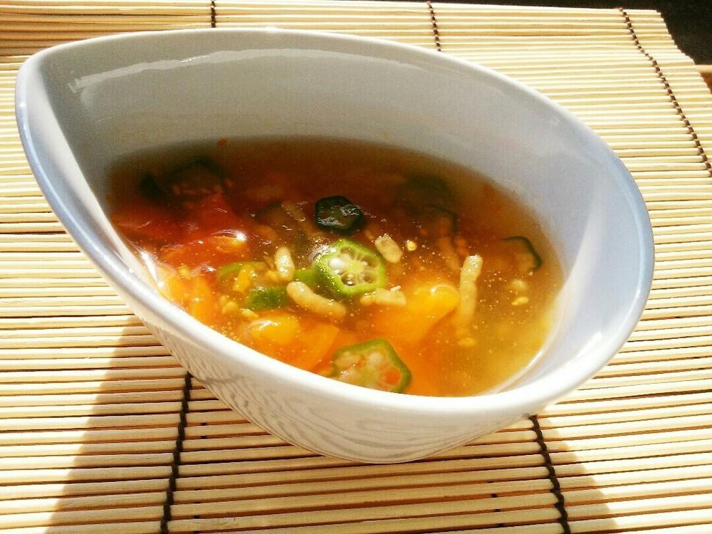 夏野菜のとろりんスープの作り方7