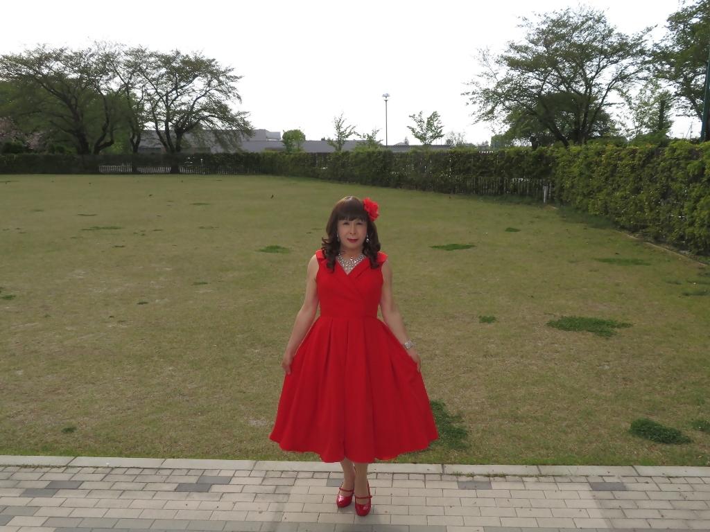 赤ミディドレスA(6)