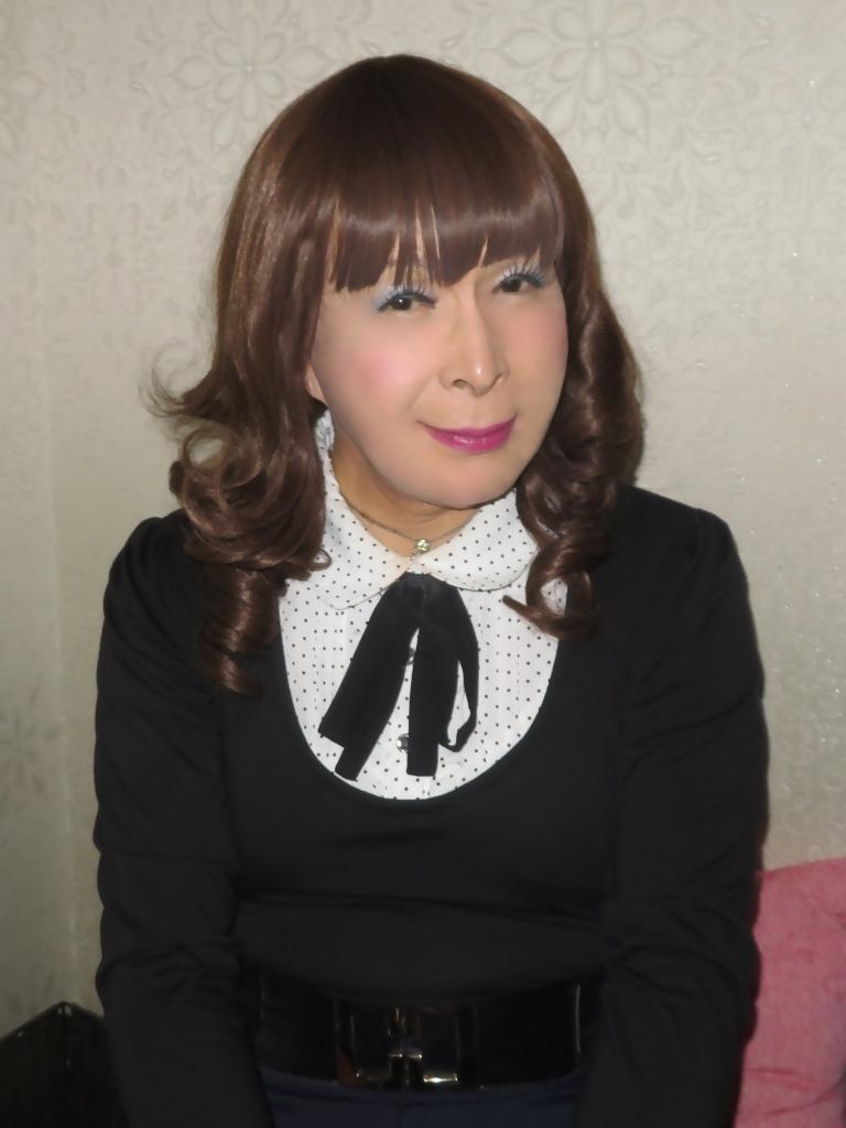 リボントップス紺フレアスカカラオケ(7)