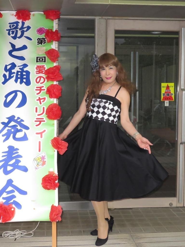 胸元格子柄舞台衣装A(3)