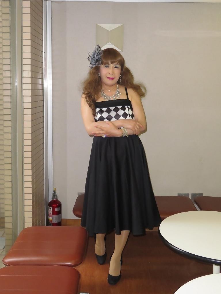 胸元格子柄舞台衣装B(2)