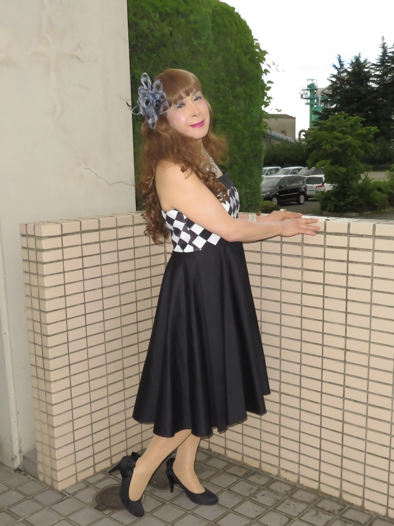 胸元格子柄舞台衣装B(4)
