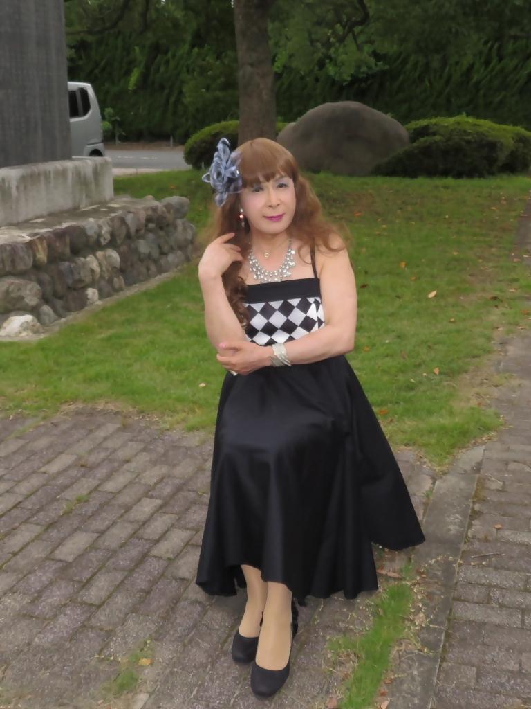 胸元格子柄舞台衣装B(6)