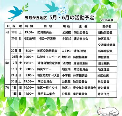 H30-5月6月活動予定