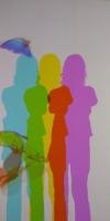 色が変化する影