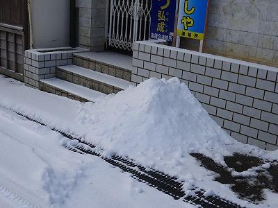 軒先の落雪