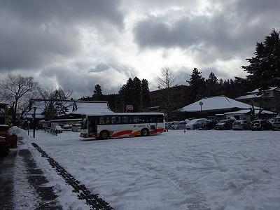 真っ白なバス停