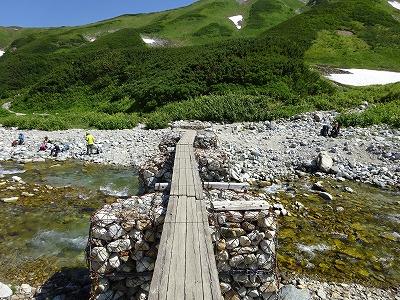 雷鳥沢の一本橋