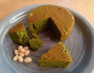 桑の葉白いんげんケーキ