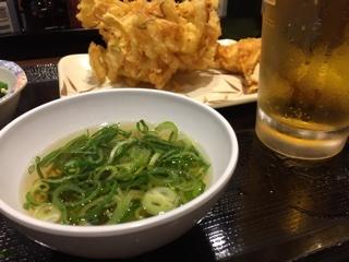 無料のかけ汁+葱