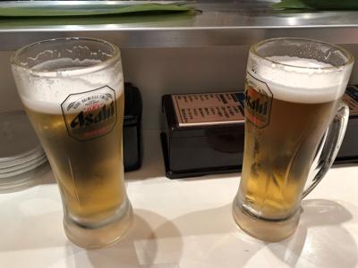 生ビール 中ジョッキ(アサヒスーパードライ)