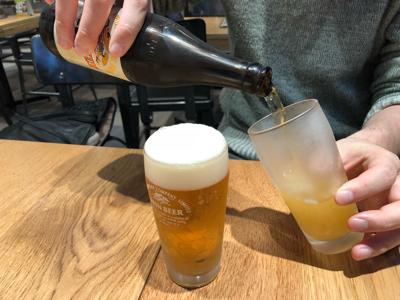 生ビールと瓶ビール
