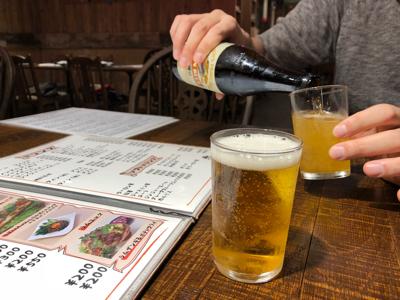 瓶ビール(キリン中瓶)