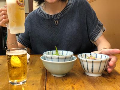 瓶ビール+生ビール+お通し