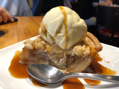 Angel Bake Caramel Apple Pie with Vanilla Ice cream