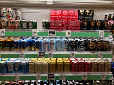 豊田のスーパーのクラフトビールセクション