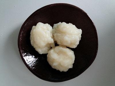 成功したおかゆ団子 (1)