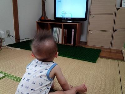 テレビ見る息子