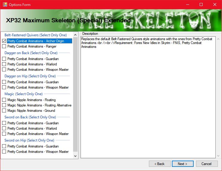 Skyrim LE]: Mod紹介 - XP32 Maximum Skeleton Extended