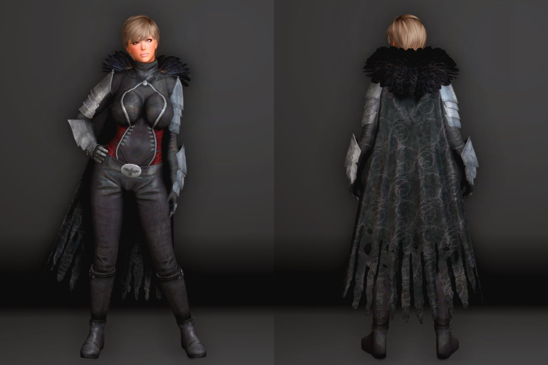 DarkEnvoySSE 121-1 Pose Fu-Ba-F Cloak 2