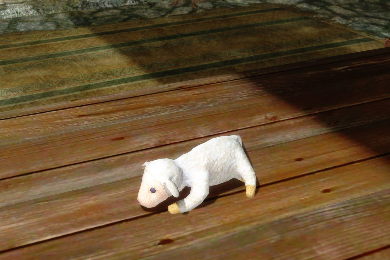 ChildrenToysMihailSK 112-1 Pose White Lamb 1