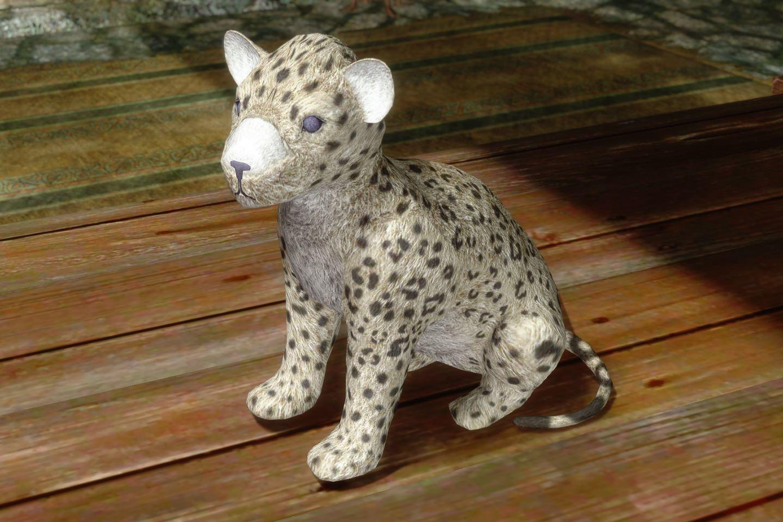 ChildrenToysMihailSK 516-1 Pose SnowLeopard 1
