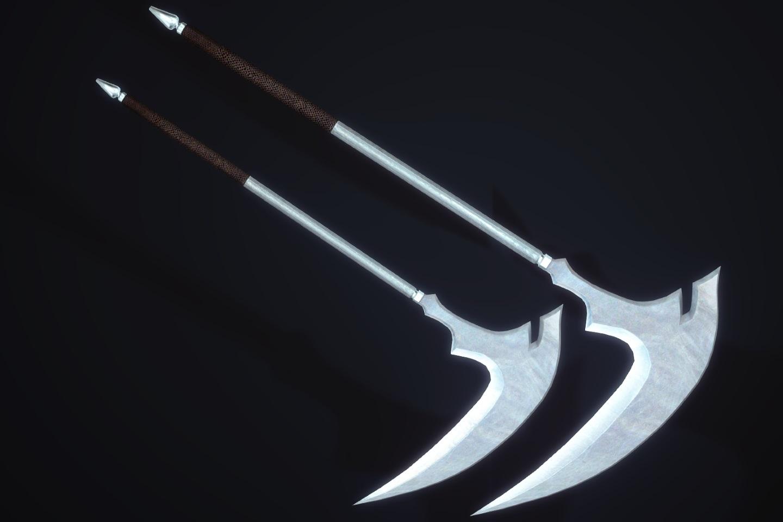 KukatsuoSteelScytheSK 122-1 Pose Comp Steel Moon 1