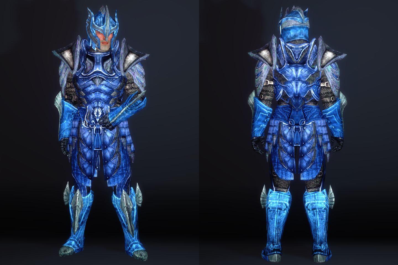 BluenightGlassArmorSK 121-1 Pose Fu-Fr-M 2