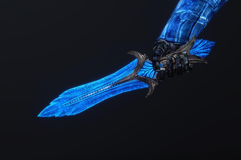 BluenightGlassArmorSK 240-1 Pose Dagger 1