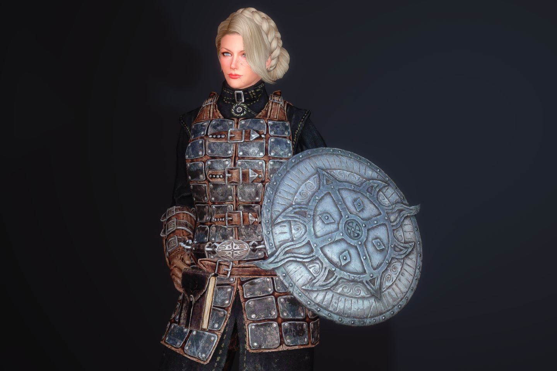 FranklyDawnguardArmSK 310-1 Pose Shield Rune L 1