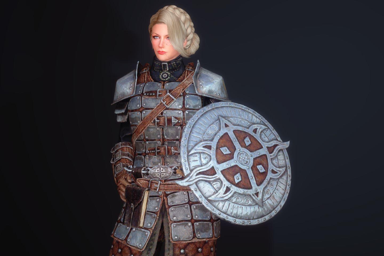 FranklyDawnguardArmSK 320-1 Pose Shield H 1