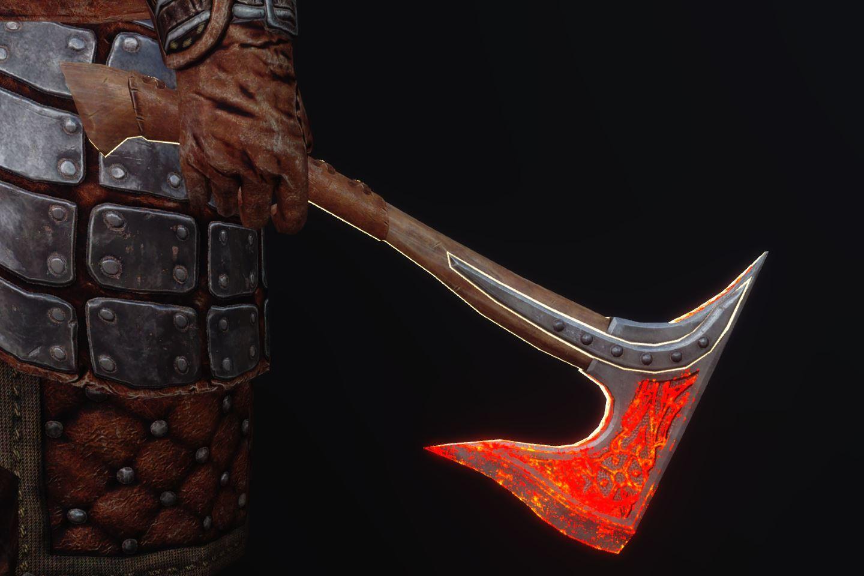 FranklyDawnguardArmSK 350-1 Pose 1HA Rune 1