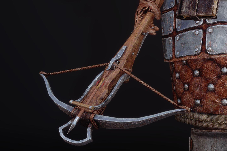 FranklyDawnguardArmSK 370-1 Pose Crossbow 1