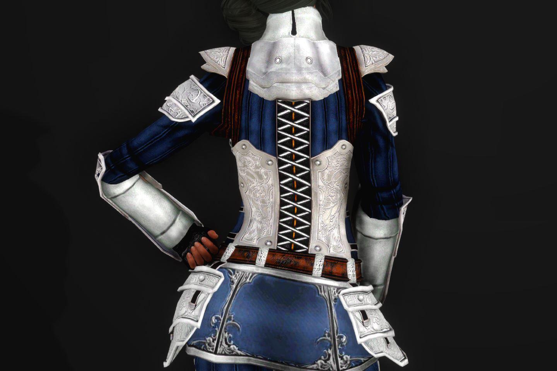 EisenplatteArmorSSE 133-1 Pose Up-Ba-F Skirt Blue 1