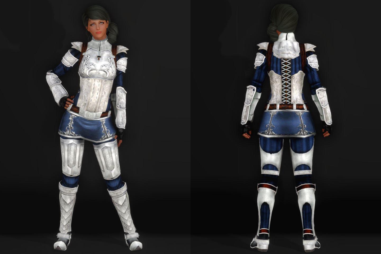 EisenplatteArmorSSE 141-1 Pose Fu-Ba-F Skirt Lite Blue 2