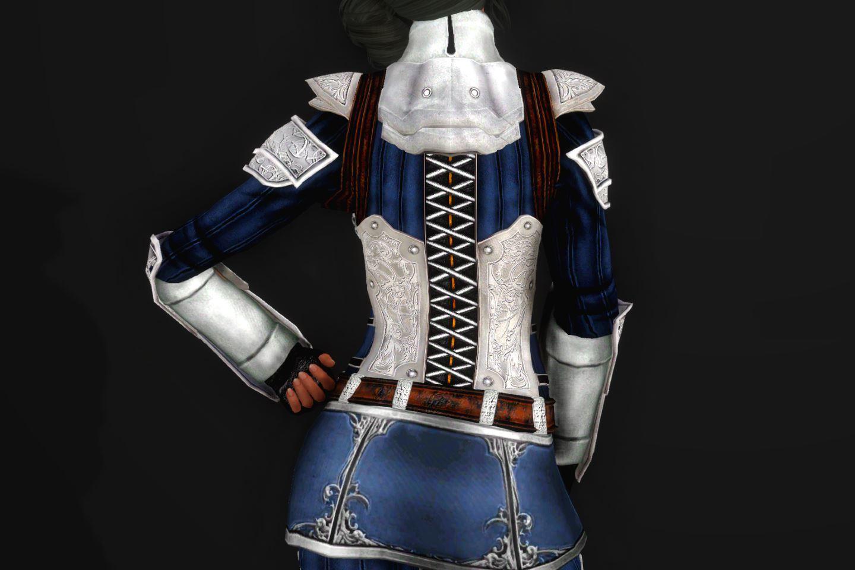 EisenplatteArmorSSE 143-1 Pose Up-Ba-F Skirt Lite Blue 1