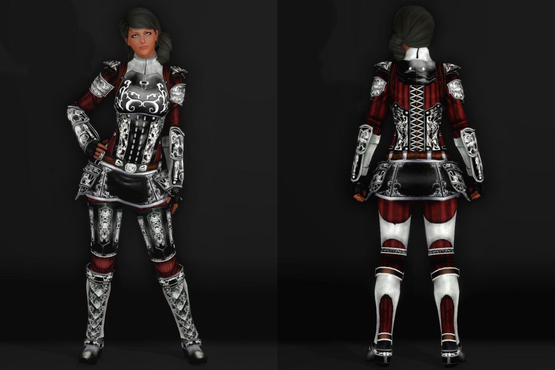 EisenplatteArmorSSE 231-1 Pose Fu-Ba-F Skirt Black 2