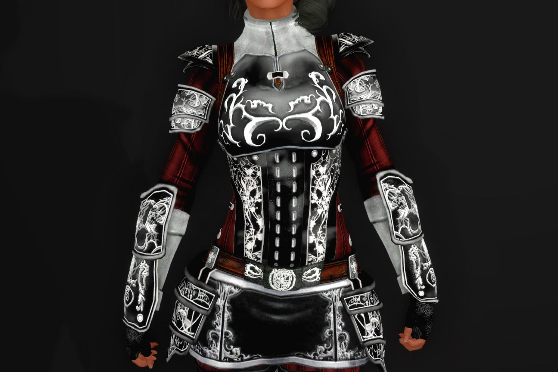EisenplatteArmorSSE 232-1 Pose Up-Fr-F Skirt Black 1