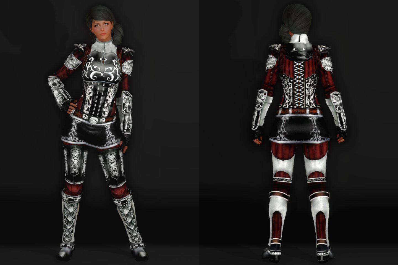 EisenplatteArmorSSE 241-1 Pose Fu-Ba-F Skirt Lite Black 2