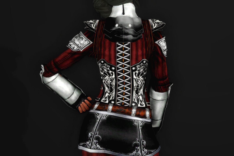 EisenplatteArmorSSE 243-1 Pose Up-Ba-F Skirt Lite Black 1