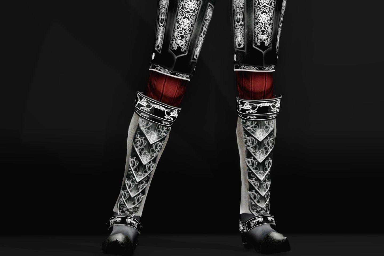 EisenplatteArmorSSE 244-1 Pose Lo-Fr-F Skirt Lite Black 1