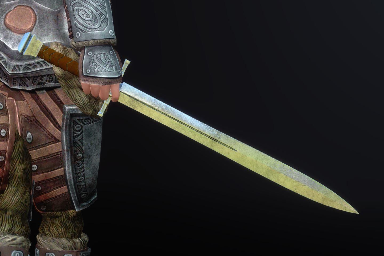 DragonSteelSwordSK 110-1 Pose 1HS 1