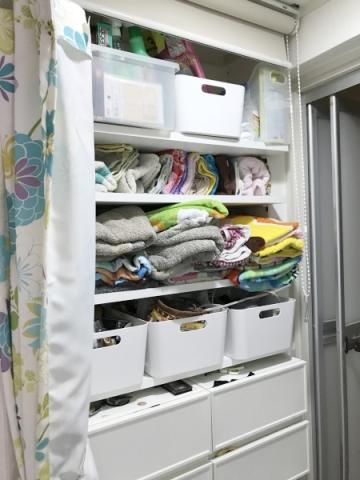 洗面所にパジャマと下着を収納する場合 (2)