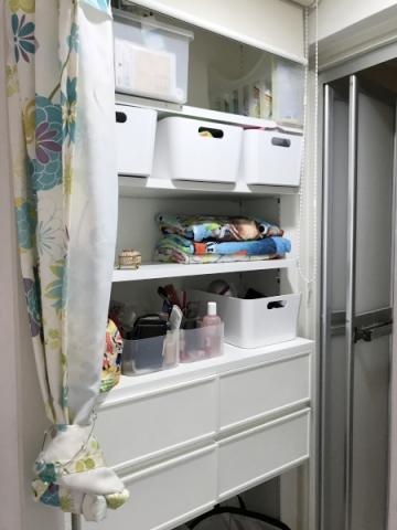 洗面所にパジャマと下着を収納する場合 (6)