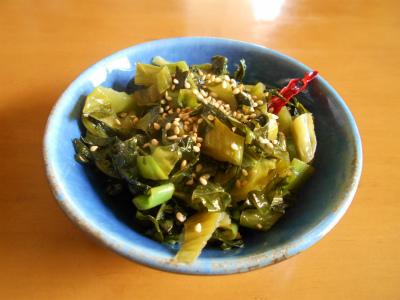 4.16高菜漬けの胡麻油炒め